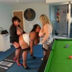 3 busty women sucking cock