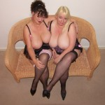 Jo Juggs & naughty Kim in stockings